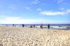 Lo sputo di Curonian Costa del Mar Baltico Fotografia Stock