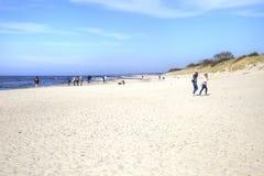 Lo sputo di Curonian Costa del Mar Baltico Immagine Stock Libera da Diritti
