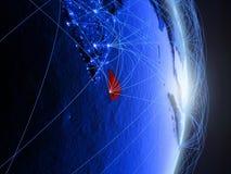 Lo Sri Lanka su terra digitale blu blu fotografia stock libera da diritti