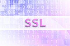 Lo SSL dell'iscrizione del testo è scritto su un campo semitrasparente s fotografia stock libera da diritti