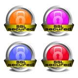 Lo SSL ha assicurato l'insieme dell'icona Fotografie Stock Libere da Diritti