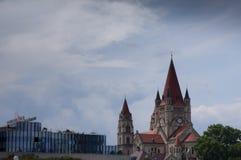 Lo St Francis della chiesa di Assisi, Vienna Immagine Stock Libera da Diritti