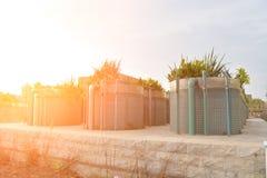 Lo stabilimento di trasformazione avanzato delle acque di rifiuto Immagine Stock Libera da Diritti