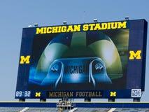 Lo stadio del Michigan ottiene i nuovi tabelloni segnapunti Immagine Stock