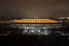 Lo stadio di Luzhniki dopo ricostruzione Fotografia Stock Libera da Diritti