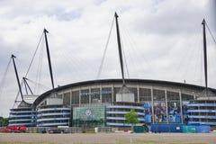 Lo stadio di Manchester City Etihad Fotografie Stock Libere da Diritti