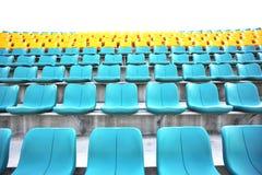 Lo stadio mette il cielo a sedere della priorità bassa Immagini Stock