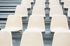 Lo stadio mette l'allineamento a sedere Fotografia Stock Libera da Diritti