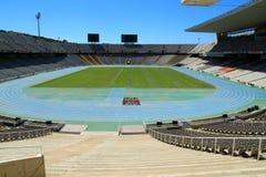 Lo Stadio Olimpico Barcellona Spagna Fotografia Stock Libera da Diritti
