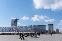 Lo Stadio Olimpico - cubo dell'acqua immagini stock libere da diritti
