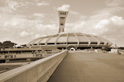 Lo stadio olimpico di Montreal Immagine Stock