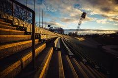 Lo Stadio Olimpico a Monaco di Baviera al parco di Olimpia Fotografia Stock Libera da Diritti