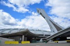 Lo Stadio Olimpico a Montreal Immagini Stock