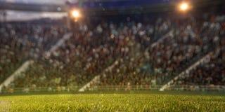 Lo stadio smazza il defocus del bokeh 3d rendono l'illustrazione Fotografie Stock