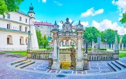 Lo stagno della st Stanislaus a Cracovia, Polonia immagine stock