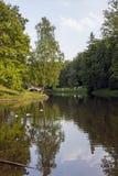 Lo stagno nel parco di Tsaritsyno Immagini Stock Libere da Diritti
