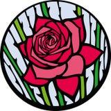 Lo Stained-glass è aumentato. Fotografie Stock Libere da Diritti