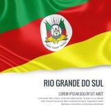 Lo stato brasiliano Rio Grande fa la bandiera di Sul illustrazione vettoriale