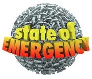 Lo stato d'emergenza 3d esprime l'esclamazione Mark Point Sphere Fotografia Stock Libera da Diritti