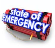 Lo stato d'emergenza 3d esprime la crisi esplosiva Disas della bomba della dinamite Immagine Stock