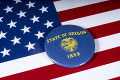 Lo stato dell'Oregon in U.S.A. fotografia stock