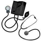 Lo stetoscopio e l'unità del manometro Immagine Stock