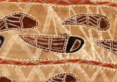 Lo stile aborigeno ha ispirato la priorità bassa astratta Fotografia Stock Libera da Diritti