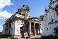 Lo stile architettonico della chiesa ortodossa nella regione di Tver' Immagine Stock Libera da Diritti