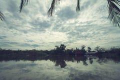Lo stile d'annata del landscap in parco Fotografie Stock