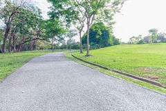 Lo stile d'annata del landscap in parco Fotografia Stock Libera da Diritti