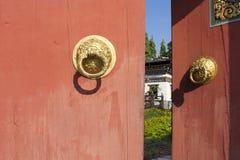 Lo stile del Bhutan del portone Fotografia Stock Libera da Diritti
