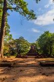 Lo stile di Lanka rovina la pagoda del tempio di Wat Mahathat in Muang Kao Historical Park, la città antica di Phichit, Tailandia Immagini Stock