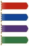 Lo stile medievale delle bandiere in molti colora royalty illustrazione gratis