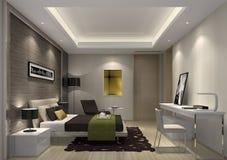 Lo stile semplice della camera da letto nell'appartamento senior a Shanghai Fotografia Stock
