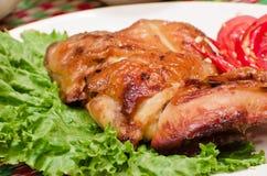 Lo stile tailandese arrostito del pollo Fotografia Stock Libera da Diritti