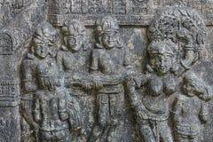 Lo stile tailandese del cemento di rilievo basso handcraft Immagine Stock