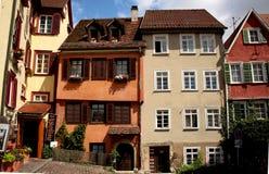 Lo stile tedesco alloggia l'esterno del castello di bingen del ¼ di Hohentà Fotografia Stock