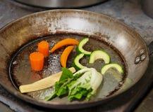 Lo stir della verdura fresca ha fritto immagini stock libere da diritti