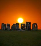Lo Stonehenge famoso in Inghilterra Fotografia Stock