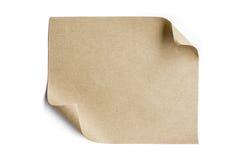 Lo strato della carta di Brown rotola sull'angolo sinistro superiore immagini stock