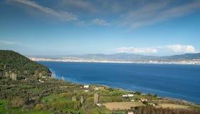 Lo stretto dei Dardanelli fotografia stock