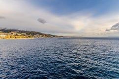 Lo stretto di Messina immagini stock libere da diritti