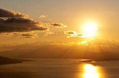 Lo stretto di Messina. Fotografie Stock