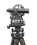 Lo strumento d'annata dell'ispettore isolato. fotografia stock