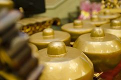Lo strumento di musica tradizionale malese ha chiamato Gamelan fotografie stock