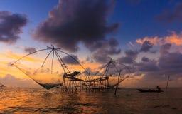 Sunright di pesca Immagine Stock Libera da Diritti