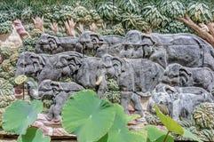 Lo stucco mura l'elefante Immagini Stock Libere da Diritti