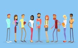 Lo studente Group People Holding prenota l'istruzione illustrazione di stock