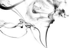 Lo studio ha sparato di un fumo su un fondo bianco Immagine Stock Libera da Diritti