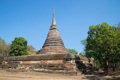 Lo stupa abbandonato è tempio buddista antico Wat Chedi Ngarm Sukhothai thailand fotografie stock libere da diritti